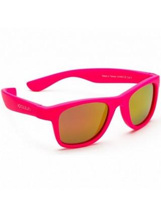Дитячі сонцезахисні окуляри Koolsun неоново-рожеві серії Wave (Розмір: 1+)