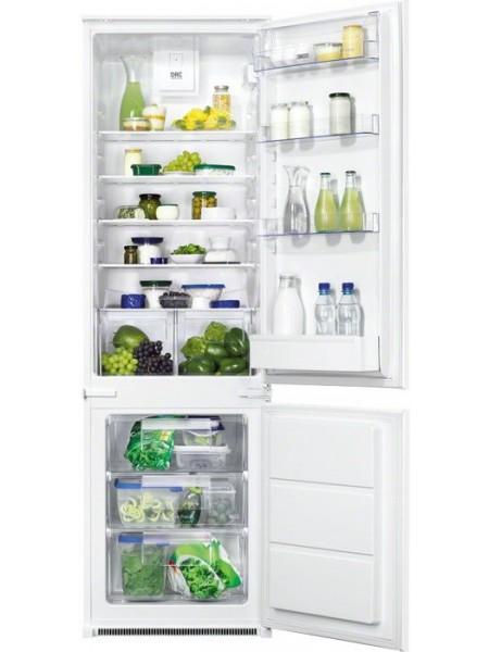 Вбуд. холодильник с мороз. камерою Zanussi ZBB928441S, 177х55х54см, 2 дв., Холод.відд. - 196л, Мороз