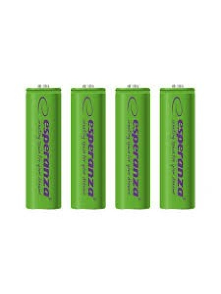 Акумулятор Ni-MH AA 2000 mAh, 4шт, зелений Esperanza EZA104G