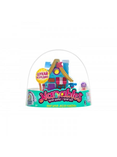 Ігрова фігурка Jazwares Nanables Small House Зимовий дивосвіт, Книгарня Біля каміна