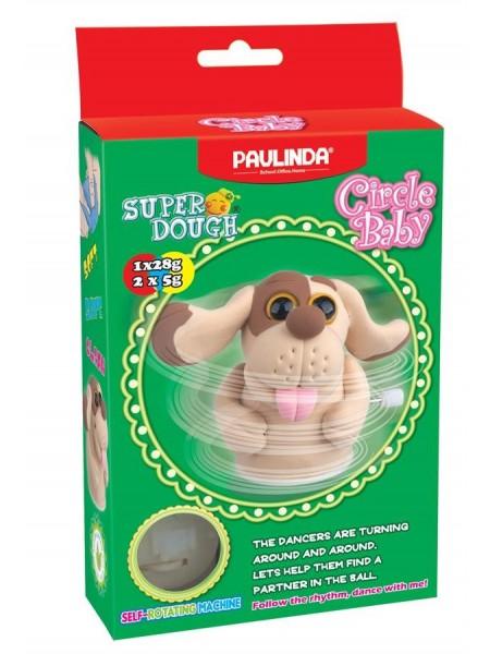 Маса для ліплення Paulinda Super Dough Circle Baby Собака заводний механізм, коричнева PL-081177-6