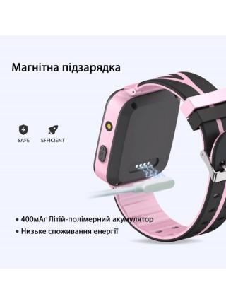 Дитячий телефон-годинник з GPS трекером GOGPS К07 рожевий (K07PK)
