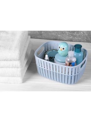 Корзинка плетена Ardesto Sweet Home, 3л, 235*176*120 мм, голубий, пластик (AR1730SP)