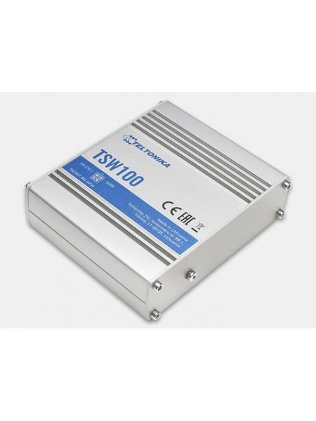 Комутатор 4xRJ-45 PoE (802.3af, 802.3at),1xRJ-45 Teltonika TSW100