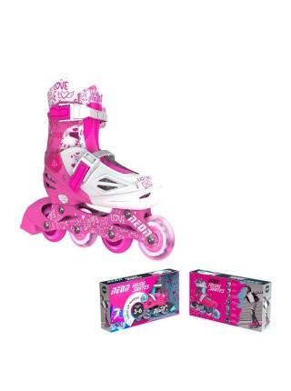 Ролики Neon INLINE SKATES Рожевий (Розмір 34-38)