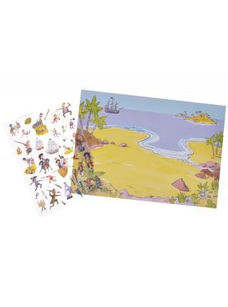 Перевідні наклейки Scribble Down Піратські скарби SD/04
