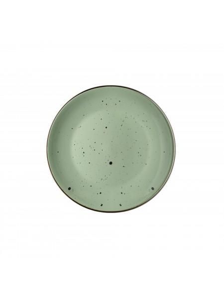 Тарілка обідня Ardesto Bagheria, 26 см, Pastel green, кераміка (AR2926GGC)