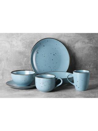 Тарілка обідня Ardesto Bagheria, 26 см, Misty blue, кераміка (AR2926BGC)