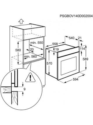 Духова шафа Electrolux EZB53430AX