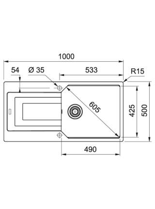 Кухонні мийки Franke Urban UBG 611-100 XL/114.0574.932/фраграніт/100x50/миндаль