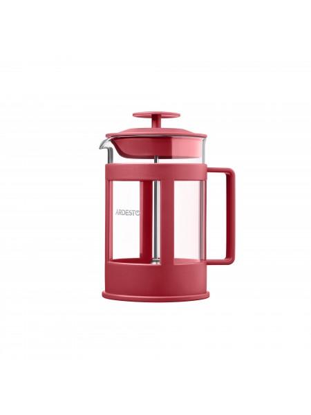Френч-прес Ardesto Fresh, 800 мл, червоний, пластик, скло (AR1008RF)