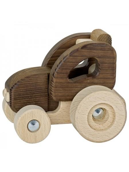Машинка дерев'яна goki Трактор (натуральний) 55911G