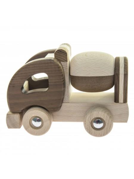 Машинка дерев'яна goki Бетонозмішувач (натуральний) 55912