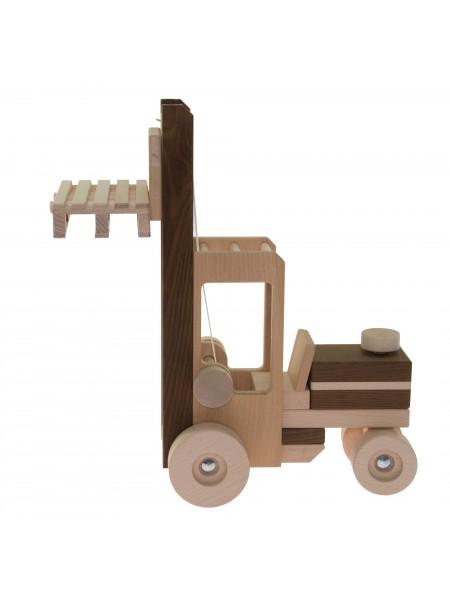 Машинка дерев'яна goki Автонавантажувач (натуральний) 55901