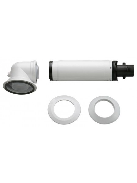 Коаксіальний горизонтальний комплект Bosch AZB 916: відвід 90° + подовжувач 990 - 1200 мм, діаметр 6