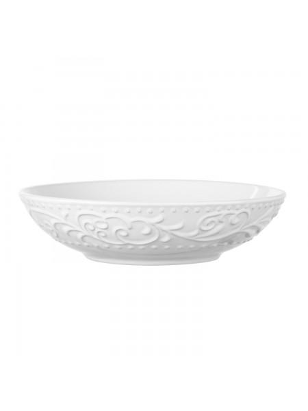 Тарілка супова Ardesto Olbia, 20 см, White, кераміка (AR2920WC)