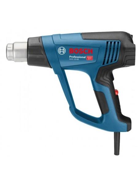 Фен будівельний Bosch GHG 23-66 +АС, 2300 Вт, 50-650°C, потік повітря 150 -500л/м, 0.89 кг (0.601.2A