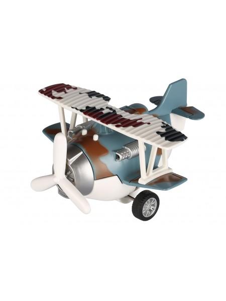 Літак металевий інерційний Same Toy Aircraft синій зі світлом і музикою SY8015Ut-4