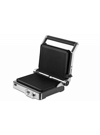 Гриль Ardesto GK-2000M - 2000Вт/механіка/таймер/рег.темп./ знімні пластини/колір метал/