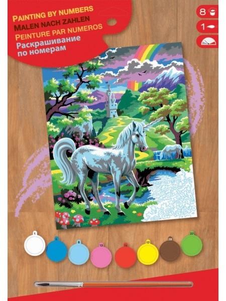 Набір для творчості Sequin Art PAINTING BY NUMBERS JUNIOR Єдиноріг SA0124