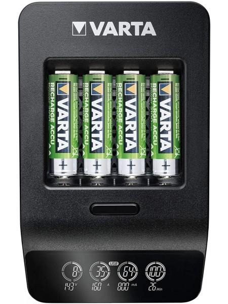 Зарядний пристрій VARTA LCD Smart Plus CHARGER+4xAA 2100 mAh (57684101441)