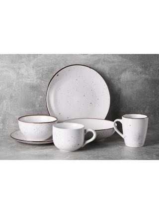Тарілка супова Ardesto Bagheria, 20 см, Bright white, кераміка (AR2920WGC)