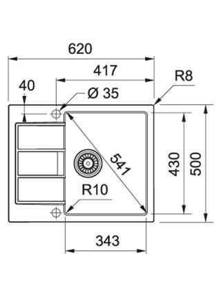Кухонні мийки Franke Sirius S2D 611-62/143.0627.330/