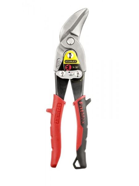 Ножницы по металлу STANLEY 250мм левые прямой рез (2-14-567)