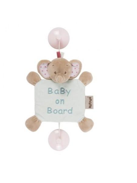 Nattou Іграшка Дитина на борту на присосках слоник Розі 655354