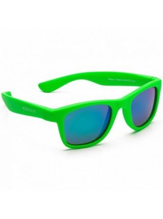 Дитячі сонцезахисні окуляри Koolsun неоново-зелені серії Wave (Розмір: 1+)