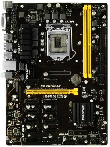 Материнська плата Biostar TB250-BTC PRO Intel B250, Socket 1151, ATX, GbE LAN Dual
