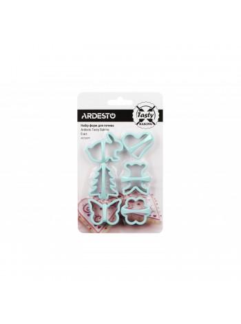 Набір форм для печива Ardesto Tasty baking, 6 шт,  голубий тіфані, пластик (AR2308TP)