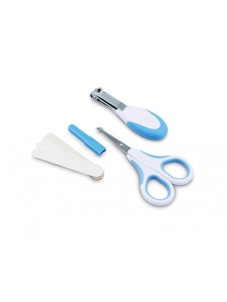 Набір по догляду за дитиною Nuvita 0м+ Синій Безпечні ножиці з акс. NV1138Blue