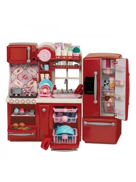 Набір мебелів Our Generation Кухня для гурманів, 94 аксесуара червона BD37086Z
