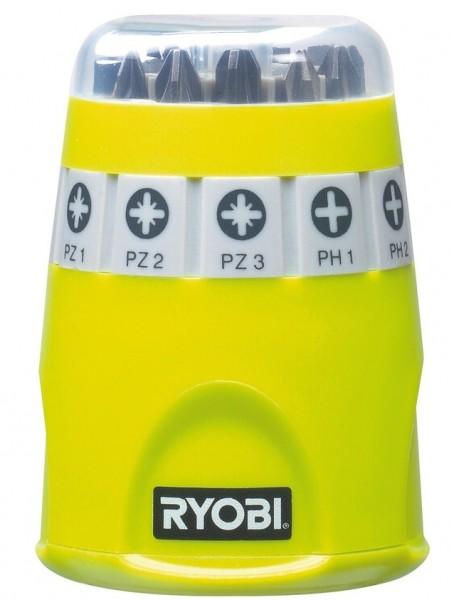 Набір біт Ryobi RAK10SD, 10 од., 9х25мм:PH1/2/3/ PZ1/2/3 /SL4.5/5.5/6.5, тримач 60мм