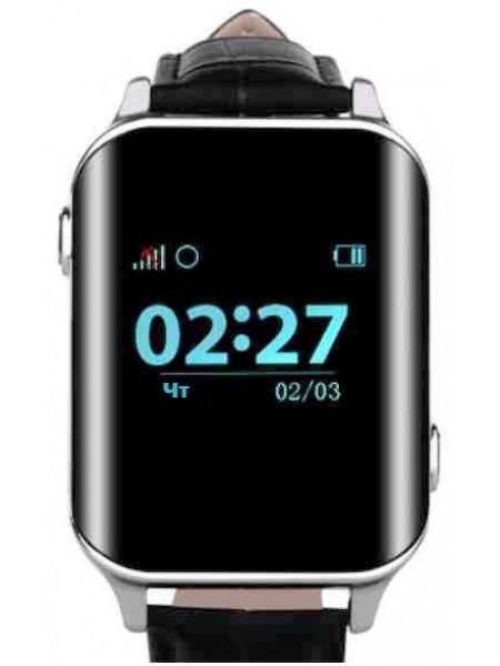 Телефон-годинник з GPS трекером GOGPS М01 хром (M01CH)