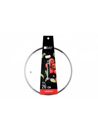 Кришка Ardesto Black Mars 26 см, скло, нержавіюча сталь, силікон (AR0726SL)