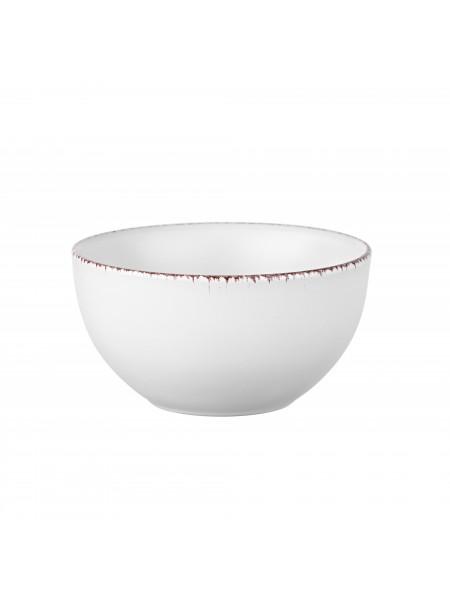 Салатник Ardesto Lucca, 14 см, Winter white, кераміка (AR2914WMC)