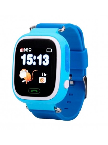 Дитячий телефон-годинник з GPS трекером GOGPS К04 синій (K04BL)