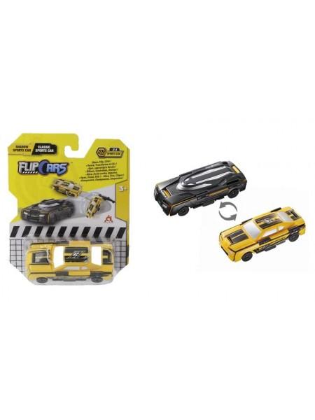 Машинка-трансформер Flip Cars 2 в 1 Чорний спорткар і Класичний спорткар