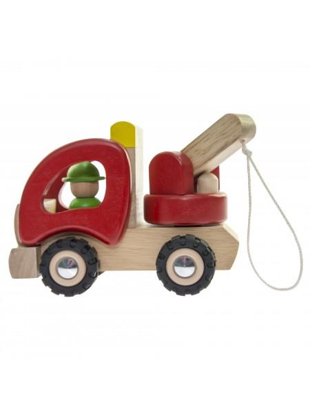 Машинка дерев'яна goki Евакуатор (червоний) 55965