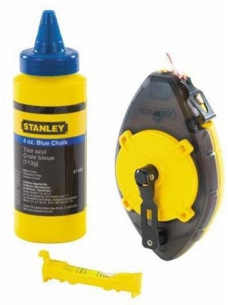 Шнур розмічальний Stanley PowerWinder, 30м, до 45г крейди, + підвісний рівень та крейда
