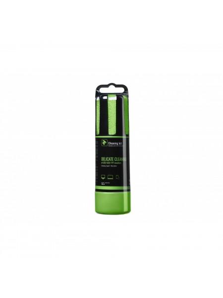 Набір для чищення 2E Liquid для LED / LCD 150ml + салфетка, Green (2E-SK150GR)