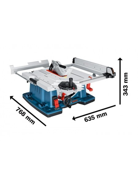 Розпилювальний стіл Bosch GTS 10 XC, 2100 Вт, диск 254 мм, нахил Л 47°/П 1°, 640 x 705мм, 35кг (0.60