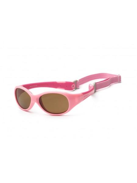 Дитячі сонцезахисні окуляри Koolsun рожеві серії Flex (Розмір: 0+)