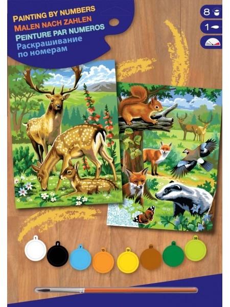 Набір для творчості Sequin Art PAINTING BY NUMBERS JUNIOR-PAIRS Лісові Звірі SA0216