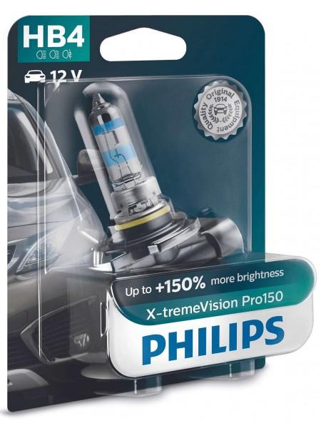 Лампа галогенная Philips HB4 X-treme VISION PRO +150%, 3700K, 1шт/блістер