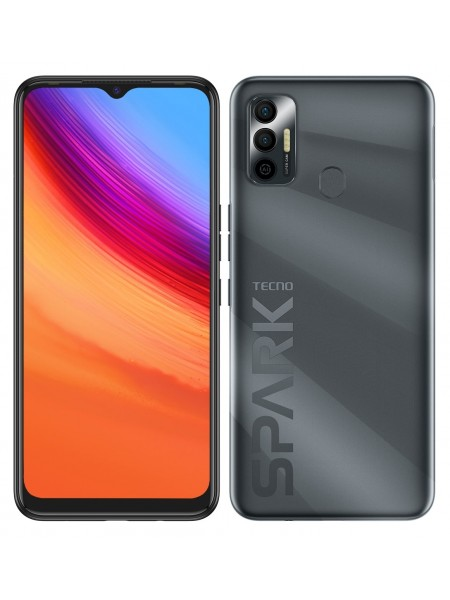 Смартфон TECNO Spark 7 (KF6n) 4/64Gb NFC Dual SIM Magnet Black