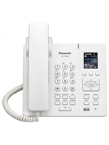 Бездротовий IP-DECT телефон Panasonic KX-TPA65RU White, для KX-TGP600RUB
