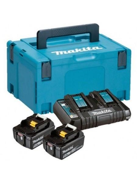 Набір акумуляторів Makita LXT BL1850B x 2шт (18В, 5аг) + ЗУ DC18RD, кейс Makpac3 (197629-2)